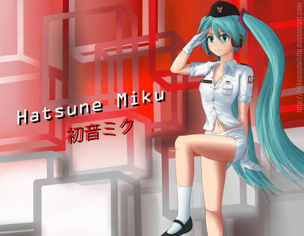Flag Hoisting Miku Revision by MikePaulWhite