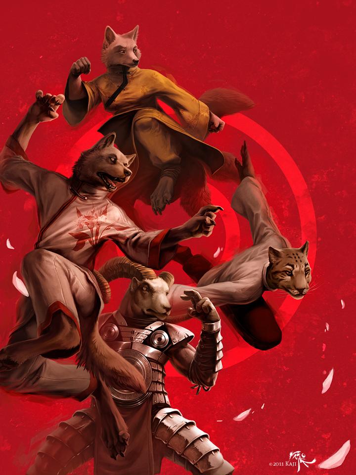 Eight fists of glory by Kajito