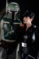 Star Wars: Boba Fett and Imperial Officer by Agent-Paradox