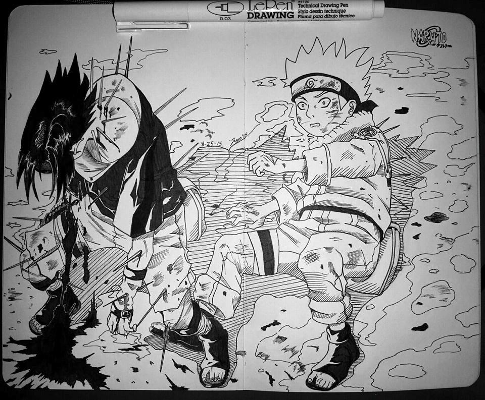 Naruto And Sasuke Vs Haku By Arcadeandrew94 On Deviantart