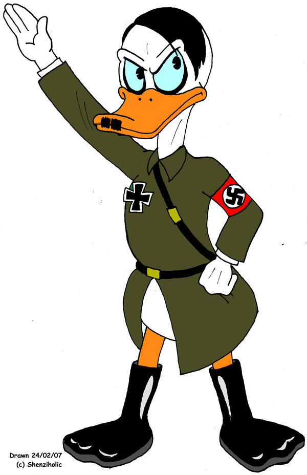 Adolf Hitler as a duck