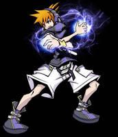 Neku Sakuraba, energy attack. by E-Kun-DA
