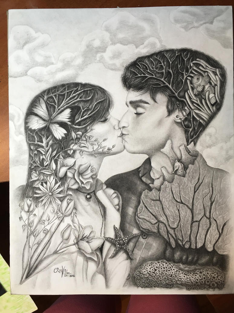 Kiss (Charcoal) by Oricat