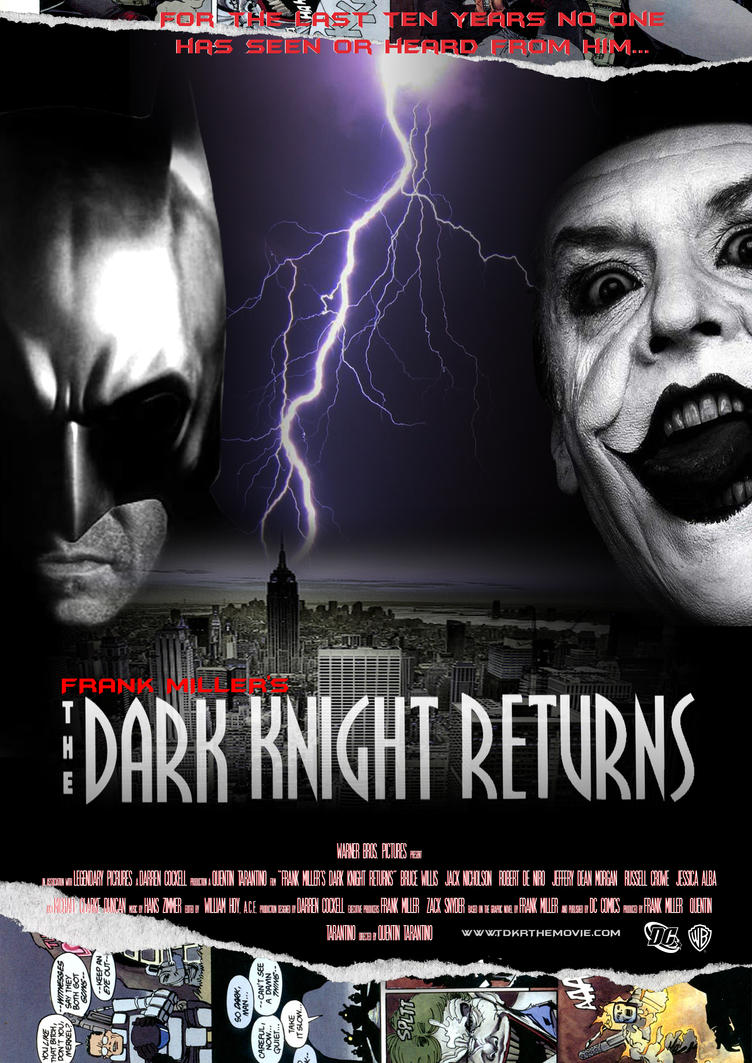dark knight returns poster by skaterdaz on deviantart