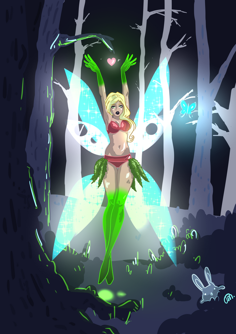 Fairy and Sprites by Teopaca