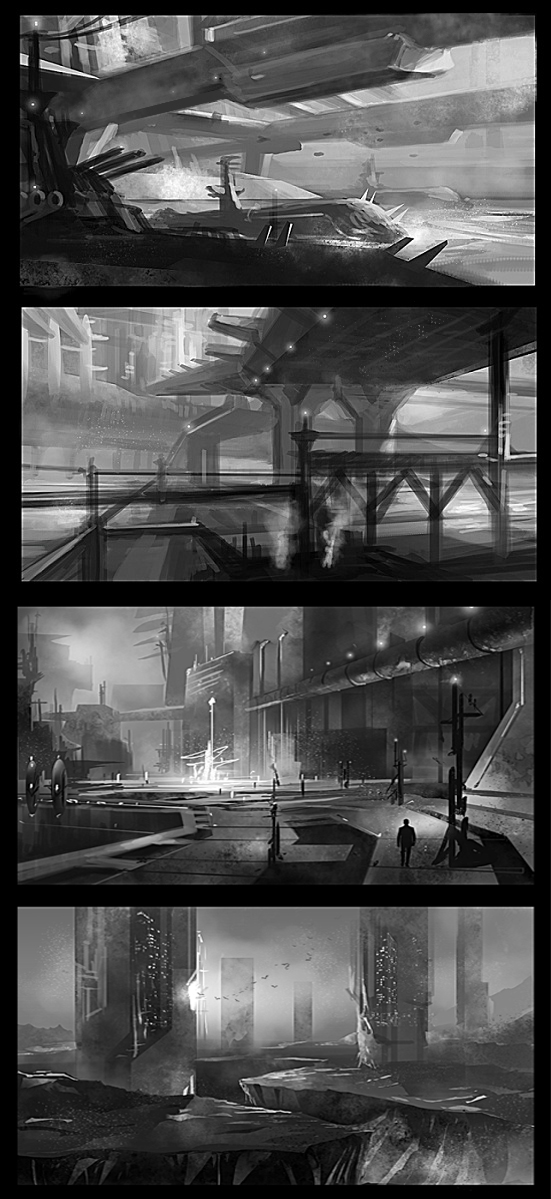 environment sketches by gunsbins