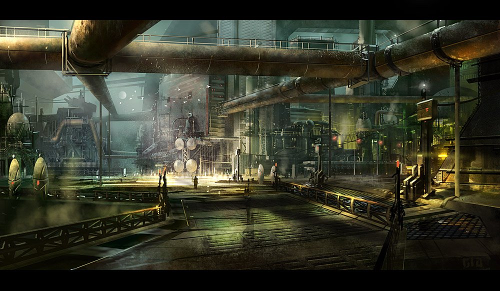 speedpaint industrial city by - photo #28