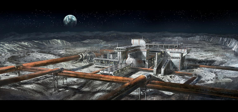 Moon base by gunsbins on DeviantArt