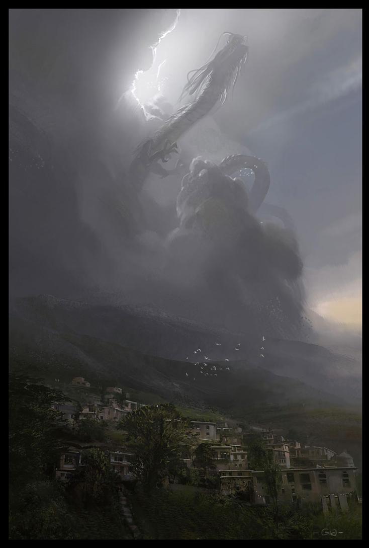 Dragon mountain by gunsbins