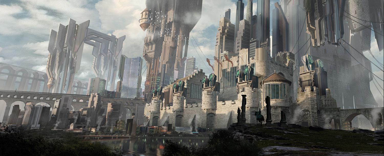 Cyber-punk castle by gunsbins