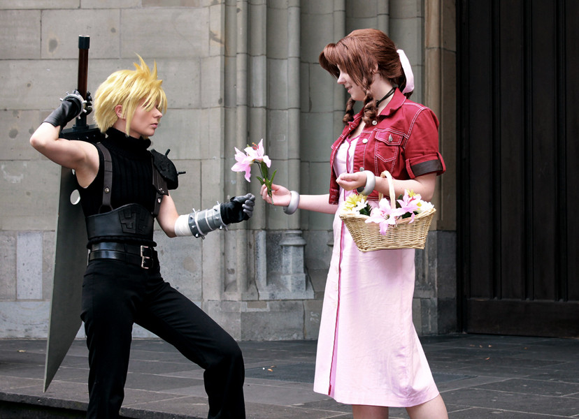 Cloud and Aerith by SerinuCeli