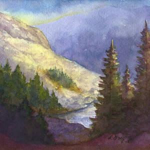Hidden Alpine Lake by tuningmyheart