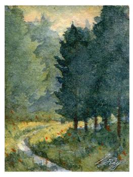 Backlit Trees - Minature