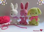 Amigurumi Bunnies by Herzstueck-Handmade