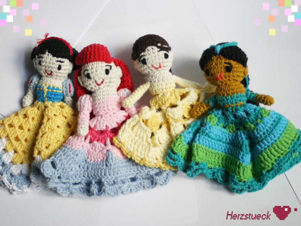 Amigurumi Disney Princess : Disney princesses amigurumi baby-dolls by Herzstueck ...