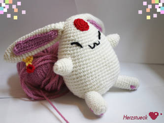 Mokona plushie amigurumi by Herzstueck-Handmade