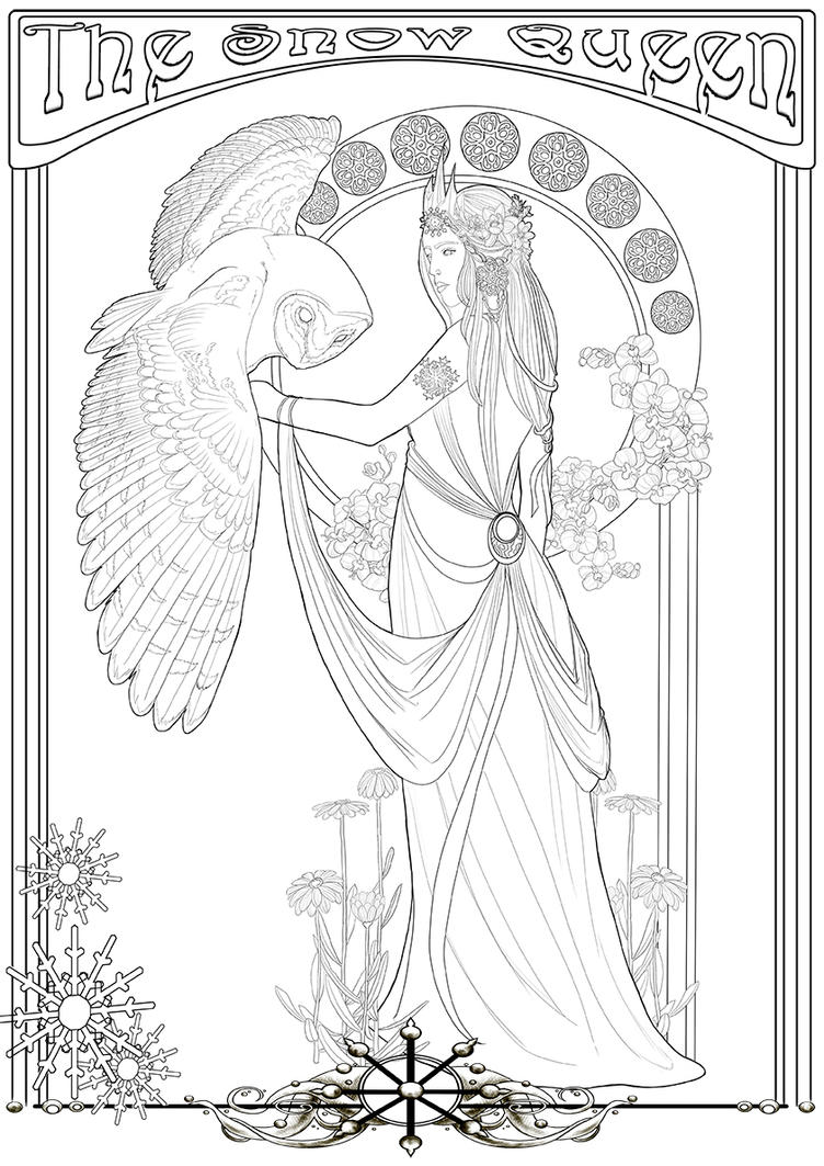 Coloring page -The Snow Queen- by Herzstueck-Handmade