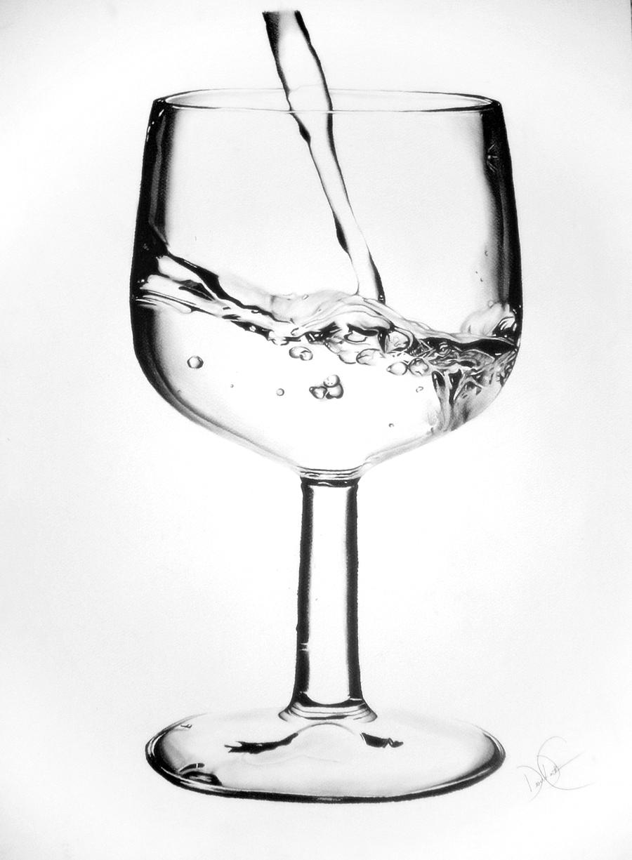 Wine glass of water drawing by desiangel1 on deviantart for How to draw on wine glasses