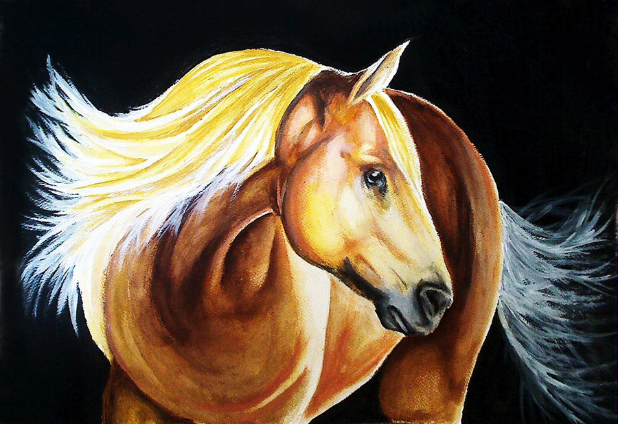 simple horse painting acrylic