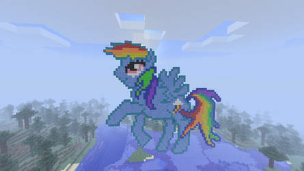 Rainbow Dash in pixel art by Mors-White