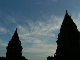 Clouds in the Prambanan sky