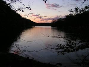 Dusk over the lake