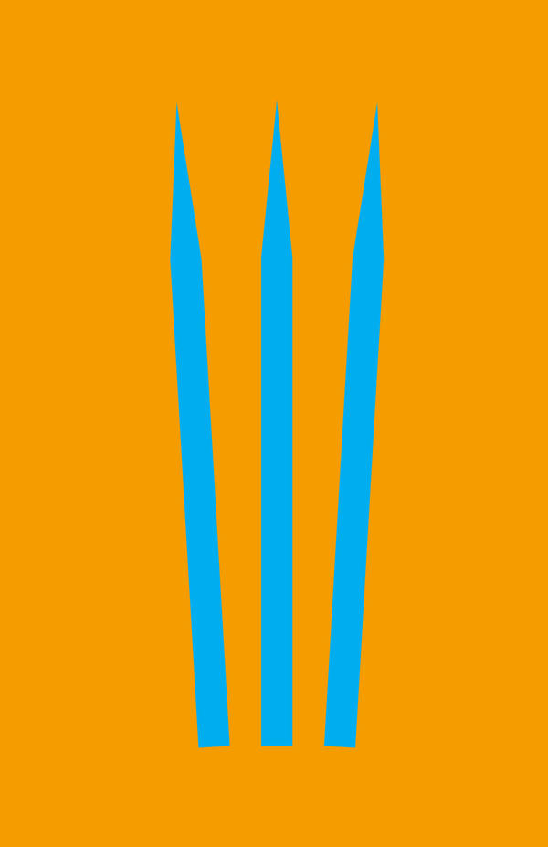 Wolverine Minimalist Weapon Design by MinimalistHeroes
