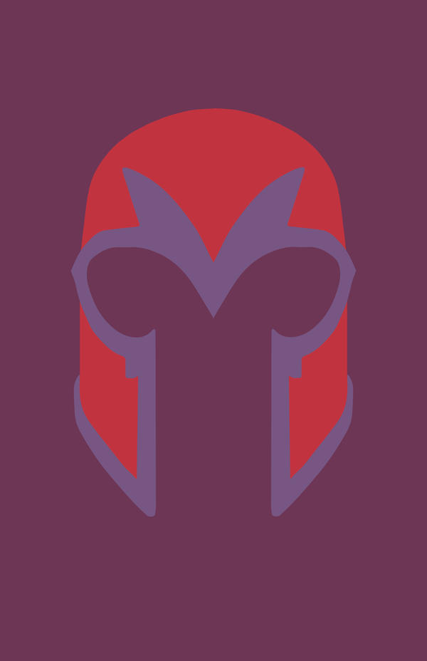 Magneto Minimalist Mask Design by MinimalistHeroes