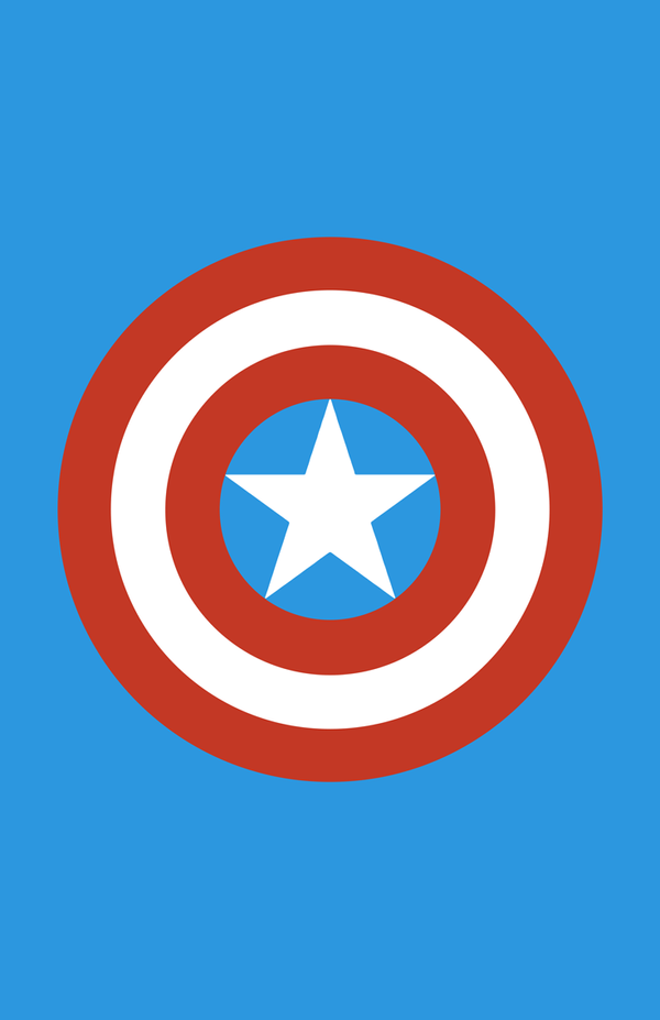 Captain America Minimalist Weapon Design by MinimalistHeroes
