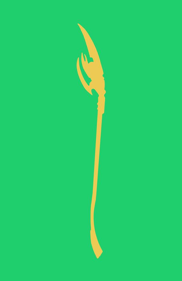Loki Minimalist Weapon Design by MinimalistHeroes