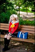 Nao Tomori on bench by nuramoon