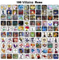 My Top 100 Favorite Villains by Toongirl18