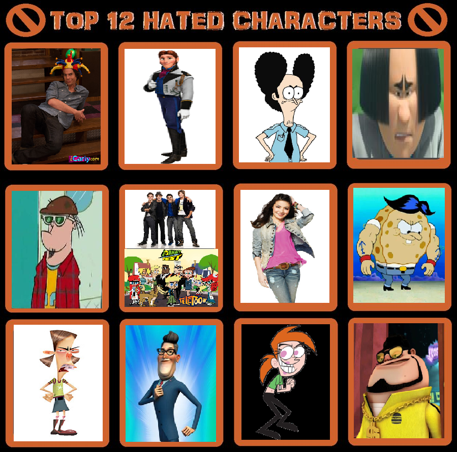 9 Most Annoying Cartoon Characters : My top most hated characters by toongirl on deviantart