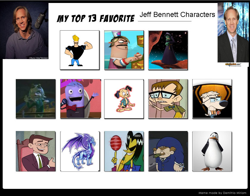 My Top 13 Favorite Jeff Bennett Characters-example by ...