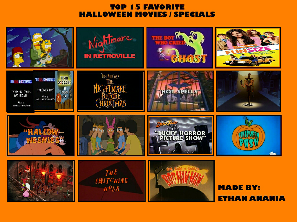 My Top 15 Favorite Halloween Movies/Specials by Toongirl18 on ...
