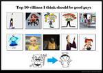Top 10 villains should be good guys
