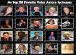 My Top 20 Favorite Voice Actors