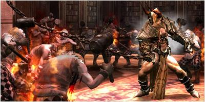 Regnier fights the demonic sculptors