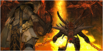 Kendal about to face the Balrog boss