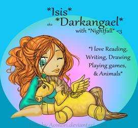 Larger Version of my DeviantID by Darkangael