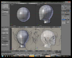 WIP - Character Modeling Elfquest style (Cutter) by Darkangael