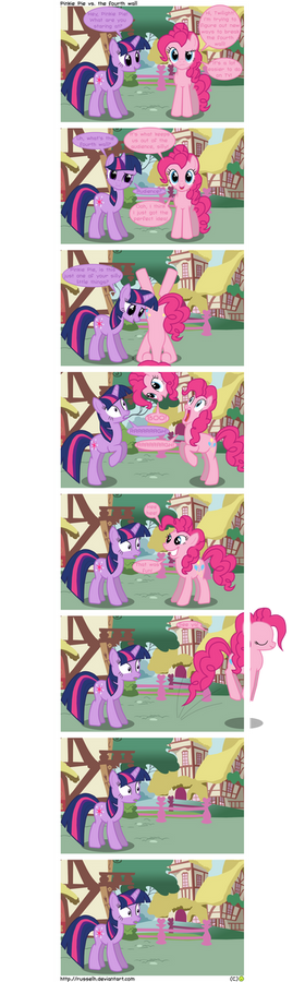Pinkie Pie vs. the fourth wall