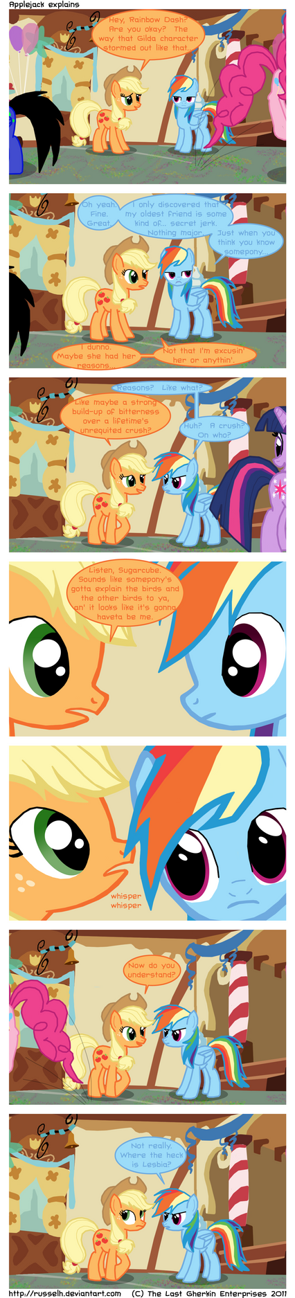 Applejack explains by TheLastGherkin