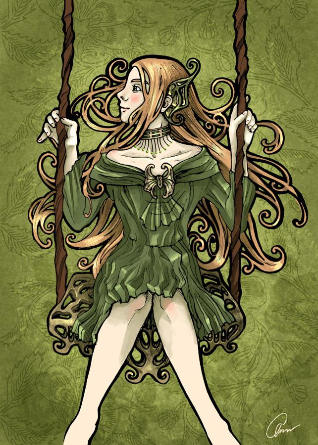 Green Nouveau by Nanjenchan