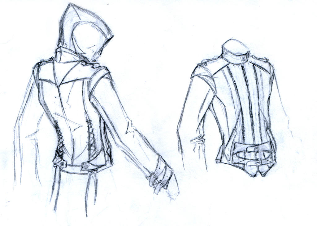 how to draw an assassins creed hood