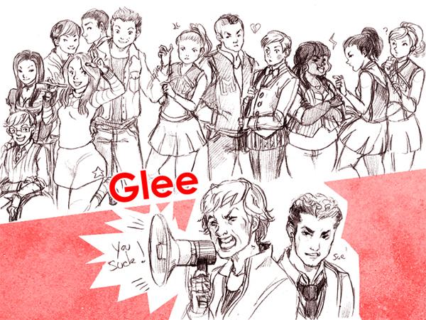 Glee cast by sanoe