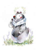 flower bear by sanoe