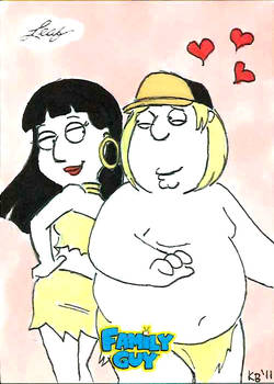 Family Guy colored sketch card - 71
