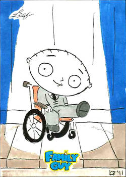 Family Guy colored sketch card - 73