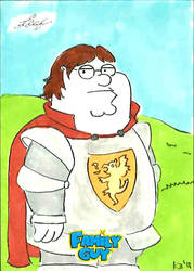 Family Guy colored sketch card - 74